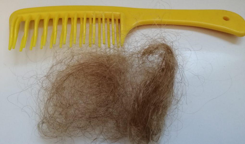 Kamm und Haare - Hausmittel bei Haarausfall können helfen